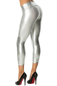 Metallic Rolldown 3/4 Leggings