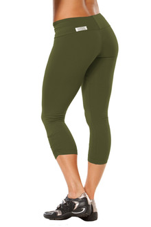 Army Sport Band Side Gather 3/4 Leggings - FINAL - XS & L