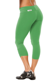 Emerald Sport Band Side Gather 3/4 Leggings - READY