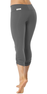 Sport Band Side Gather 3/4 Leggings - METAL - FINAL SALE