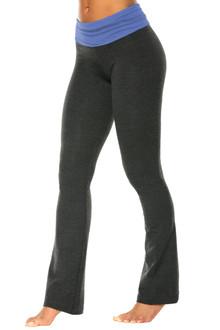 Rolldown Bootleg Pants - Contrast on Dk Gray Cotton