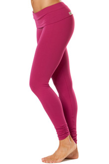 Rolldown Ankle Gather Leggings - FINAL SALE - BERRY ON BERRY - MEDIUM (1 AVAILABLE)