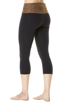Butter Khaki Rolldown Waistband on Supplex 3/4 Leggings - FINAL SALE