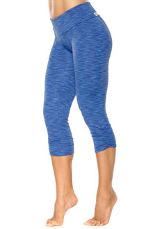 Tone Sport Band Side Gather 3/4 Leggings - FINAL SALE - SMALL (2 AVAILABLE)
