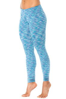 Water Turquoise Purple Sport Band Leggings - FINAL SALE - MEDIUM (1 AVAILABLE)