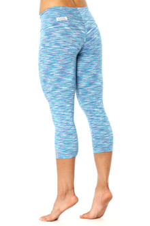 Water Turquoise Purple Sport Band 3/4 Leggings - FINAL SALE - MEDIUM (2 AVAILABLE)