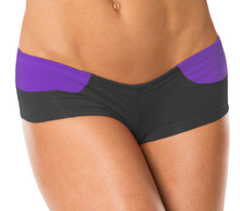"Giorgia Shorts - FINAL SALE - IRIS ON BLACK - MEDIUM - 2"" INSEAM (1 AVAILABLE)"