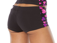 "Heart Shorts- dual - FINAL SALE - SMALL - INSEAM 2"" - SIDES 6.5"""