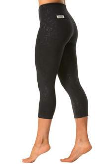 Damasque High Waist Band 3/4 Leggings