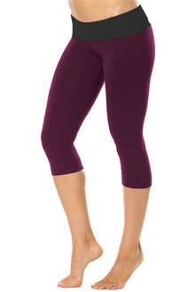 Sport Band 3/4 Leggings - FINAL SALE - BLACK ON AGENT - XSMALL(1 AVAILABLE)