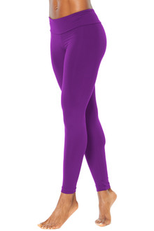 "Sport Band 7/8 Leggings - Solid Iris Supplex -FINAL SALE- XS 26"" INSEAM (1 AVAILABLE)"