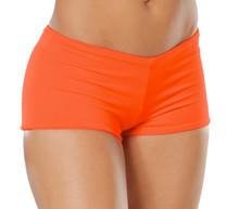 "Lowrise Double Layer Boy Shorts - FINAL SALE - TANGERINE - MEDIUM - 1.75"" INSEAM (1 AVAILABLE)"