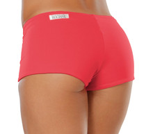 """Lowrise Double Layer Boy Shorts - FINAL SALE - VEGAS RED  - MEDIUM - 1.75"""" INSEAM (1 AVAILABLE)"""