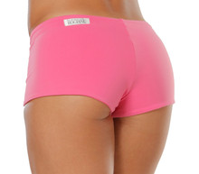 "Lowrise Double Layer Boy Shorts - FINAL SALE - CANDY PINK - SMALL - 1.75"" INSEAM (1 AVAILABLE)"
