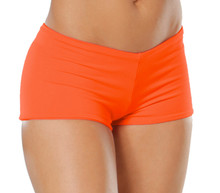 "Lowrise Double Layer Boy Shorts - FINAL SALE - TANGERINE - MAGAZINE SAMPLE - MEDIUM - 1.75"" INSEAM (1 AVAILABLE)"