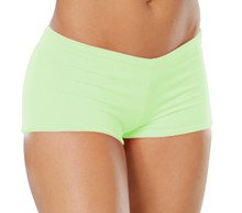 "Lowrise Double Layer Boy Shorts - FINAL SALE - LIME - MEDIUM - 2"" INSEAM (1 AVAILABLE)"