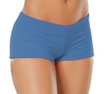 "Lowrise Double Layer Boy Shorts - FINAL SALE - MALIBU - MEDIUM - 1.5"" INSEAM (1 AVAILABLE)"