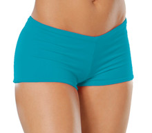 "Lowrise Double Layer Boy Shorts - FINAL SALE - TURQUOISE - MEDIUM - 1.75"" INSEAM (1 AVAILABLE)"