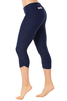 Butter Denim Sport Band Side Gather 3/4 Leggings - FINAL SALE - XSMALL