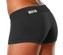 "Mini Band Mini Shorts-FINAL SALE - BLACK - XSMALL - 1.5"" INSEAM (1 AVAILABLE)"