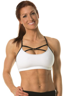 Twist Bra - FINAL SALE - BLACK ACCENT ON WHITE - MEDIUM (1 AVAILABLE)