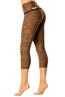 Butter High Waist Halo 3/4 Leggings - FINAL SALE - KHAKI - SMALL (1 AVAILABLE)