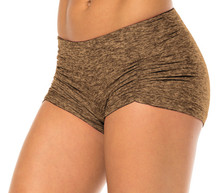 "Butter Kala Gather Front Mini Band Shorts - FINAL SALE - KHAKI - XSMALL - 2.75"" INS (1 AVAILABLE)"