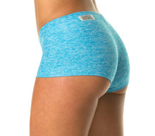 "Butter Buti Lowrise Mini Shorts - FINAL SALE - AQUA - MEDIUM - 2.5"" INSEAM (1 AVAILABLE)"