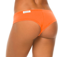 Orange Stretch Cotton Curve Shorts - custom
