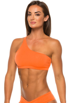 Orange Stretch Cotton Tiger Bra