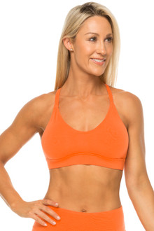 Orange Stretch Cotton Racer Doll Bra