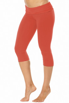 Rolldown 3/4 Leggings - RUST ON RUST - FINAL SALE - MEDIUM (1 AVAILABLE)