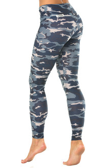 "Camouflage High Waist Leggings- FINAL SALE- MEDIUM -28"" INSEAM (1 AVAILABLE)"