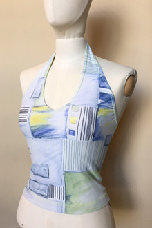 Halter Top - FINAL SALE - PENCIL PRINT - SMALL (1 AVAILABLE)