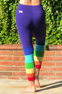 High Waist Italian Length PRIDE Leggings - Created for Patricia Friberg - model for us!