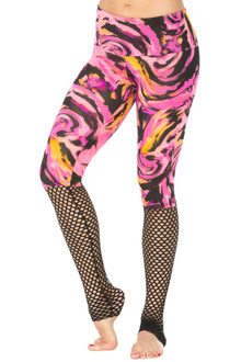 "JNL - Storm Leggings - FINAL SALE - BLACK MESH ON HURRICANE PINK - SMALL - 31"" INSEAM (1 AVAILABLE)"