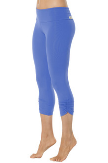 Malibu Sport Band Side Gather 3/4 Leggings - FINAL SALE
