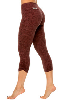 Double Butter Sport Band Side Gather 3/4 Leggings
