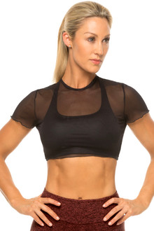 Harley Mesh Crop Top