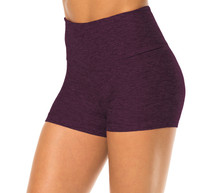 Double Weight Butter High Waist Shorts-H