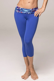 JNL - Patriot on Royal Rolldown 3/4 Leggings - FINAL SALE - SMALL (1 AVAILABLE)