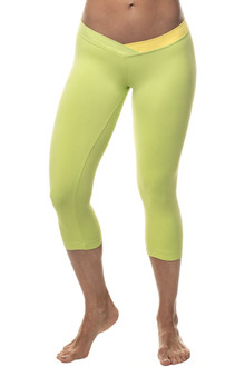 JNL - BUMBLEBEE 3/4 Leggings - FINAL SALE - YELLOW ON LIME - SMALL (1 AVAILABLE)