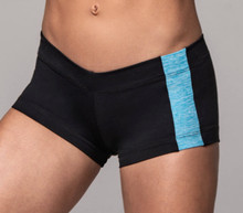 "JNL - Nile Shorts - FINAL SALE - BUTTER AQUA ON BLACK - SMALL - 1.5"" INSEAM (1 AVAILABLE)"