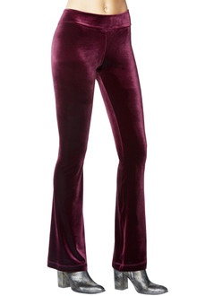 Mini Band Stretch Velvet Bootcut Pants
