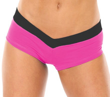 V-Band Shorts- FUSCHIA/BLACK - FINAL SALE - MEDIUM 1.5' INSEAM (1 AVAILABLE)