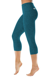Butter High Waist 3/4 Leggings - FINAL SALE - BUTTER TURQUOISE -MEDIUM  (1 AVAILABLE)