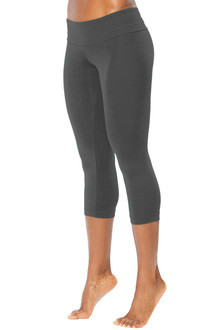 Sport Band 3/4 Leggings- DARK METAL COMPRESS FABRIC- LARGE (1 AVAILABLE)