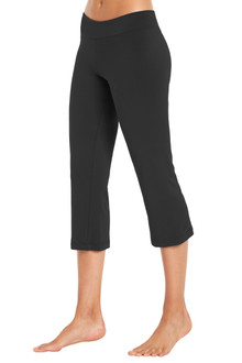 Bamboo Band Straight Leg Cropped Pants- FINAL SALE- BLACK -SMALL (2 AVAILABLE)