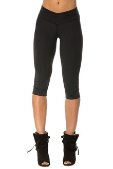 Alicia Marie - Fashion 3/4 Leggings- FINAL SALE- BLACK - SMALL (1 AVAILABLE)