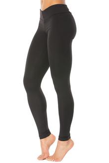 "Alicia Marie - Fashion Long Leggings -FINAL SALE - BLACK - MEDIUM - 30.5"" INSEAM (1 AVAILABLE)"